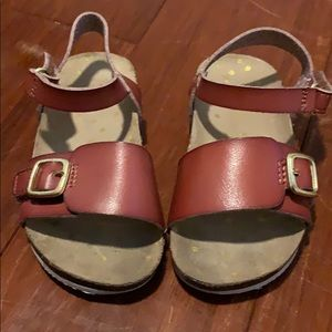 Cat & Jack brown leather sandals size 7